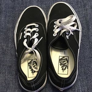 Black and white vans sneakers size 5.5